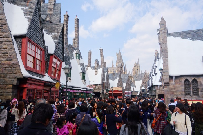Hogsmeade is filled with Muggles